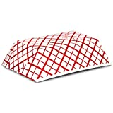 [250 Pack] 0.5 lb Heavy Duty Disposable Red Check