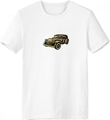 DIYthinker Patrón negro clásico Coches de la silueta con cuello redondo de la camiseta blanca de manga corta Comfort Deportes camisetas de regalos - Multi - Media: Amazon.es: Ropa y accesorios
