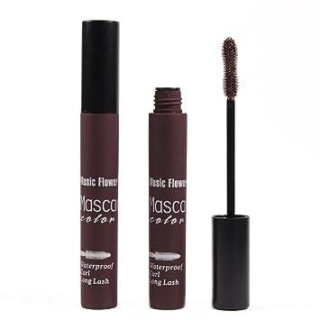DATEWORK Colorful Waterproof Makeup Eyelash Long Curling Mascara Eye Lashes Extension (Brown)