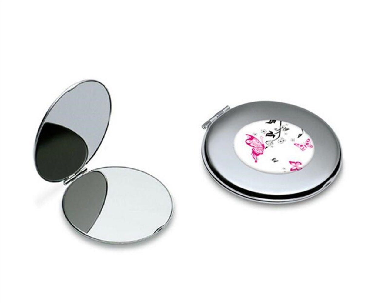 40d3042f349fb2 Miroir portable Mini papillon motif rond en m é tal petit miroir en ...