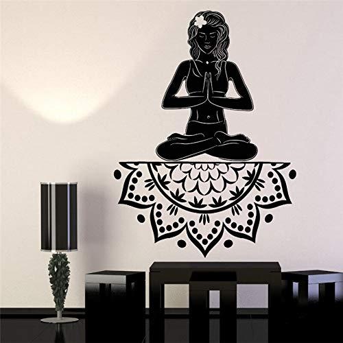 wangpdp Nuevo diseño de Vinilo Tatuajes de Pared Yoga niña ...
