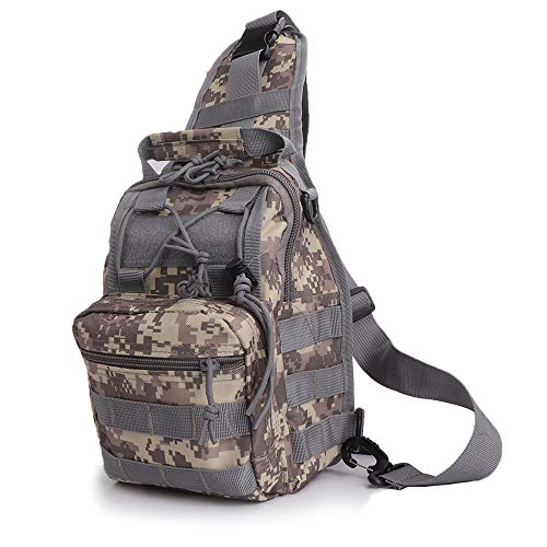 TacticalGear Small Tactical Sling Shoulder Bag Military Triangle Backpack EDC Molle Pack Lightweight 900D Nylon Daypack Multipurpose Tool Bag for Men and Women ACUCAMO ()