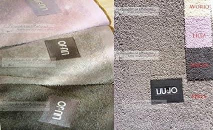 LIU JO CASA HOME Coppia asciugamani 1+1 con Applicazione Centrale del  marchio color AVORIO art.KATIA  Amazon.it  Casa e cucina c5eea4c53b8