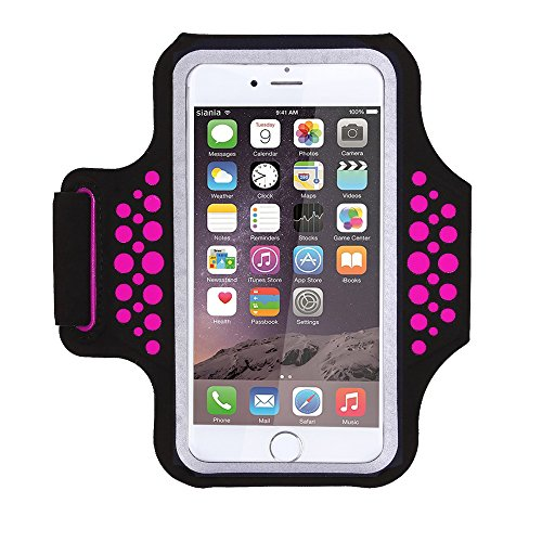 Triomph Armband for iPhone X, iPhone 8 Plus, 7 Plus, 6 Plus, 6s Plus, 6s iPod Galaxy S6, S6 Edge, S7 Edge Plus with Key Cards Money Holder, for Running, Sports, Jogging, Hiking, Biking (Rose 5.8'')