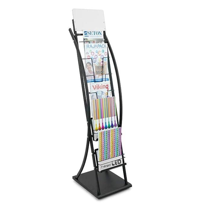 PrimeMatik - Expositor portafolletos con 6 Niveles para folletos y revistas: Amazon.es: Electrónica