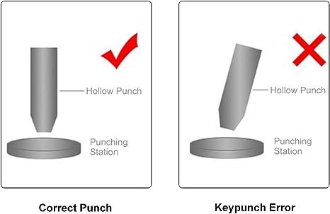 6 5x hollow punch set ceinture//cuir//trou maker//joint//carte//toile outil de coupe
