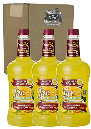 Master of Mixes Sweet N' Sour Lite Drink Mix, Ready To Use, 1.75 Liter Bottle (59.2 Fl Oz), Pack of ()