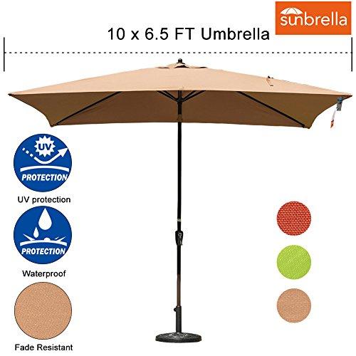 Cheap  Sundale Outdoor 6.5 x 10 Ft Sunbrella Canopy Rectangular Umbrella Patio Garden..