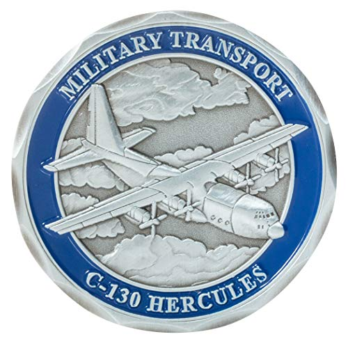 (United States Air Force C-130 Hercules Military Transport Aircraft Challenge Coin)