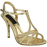 LADIES WOMENS STILETTO FASHION HIGH HEELS STRAPPY EVENING PARTY PROM BRIDAL SANDALS SHOES SIZE