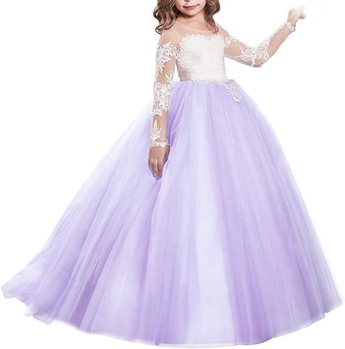 Amazon.com: IBTOM CASTLE - Vestido largo de tul para niña ...