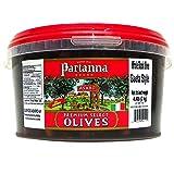 Partanna Whole Black Olives Gaeta Style, 4.4 Pound