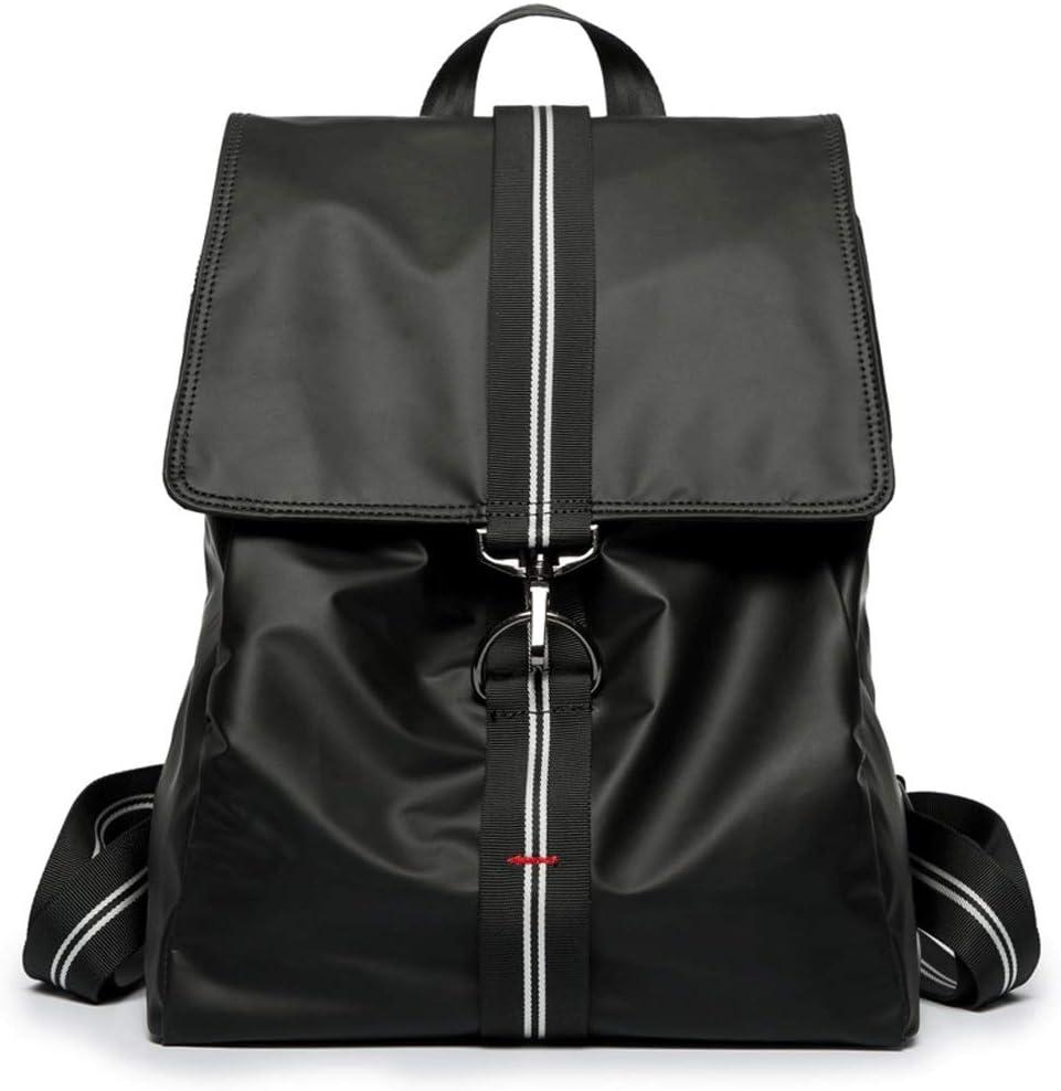 L-LK ファッション学生旅行バックパック、ヴィンテージスクールバックパックスリムトラベルバックパックファッション14インチのラップトップリュックサックコンピュータバッグ/学生バッグ 黒