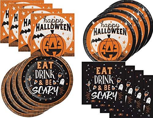Halloween Desserts For Parties (Halloween Pumpkin Appetizer/Dessert Cocktail Party Supply Bundle for 32)