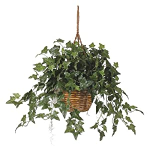 Nearly Natural English Ivy Hanging Basket Silk Plant 10