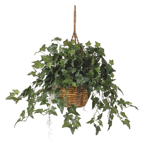 (Nearly Natural English Ivy Hanging Basket Silk Plant)