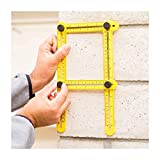 6STARSTORE Professional template tool angle measuring protractor multi angle ruler builders craftsmen engineers layout
