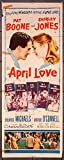 #6: April Love (1957) Original Insert Card Movie Poster 14x36 PAT BOONE SHIRLEY JONES Film Directed by HENRY LEVIN