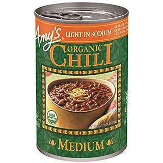 Amy's Organic Chili, Light in Sodium Medium, 14.7 Ounce (Pack of 12)