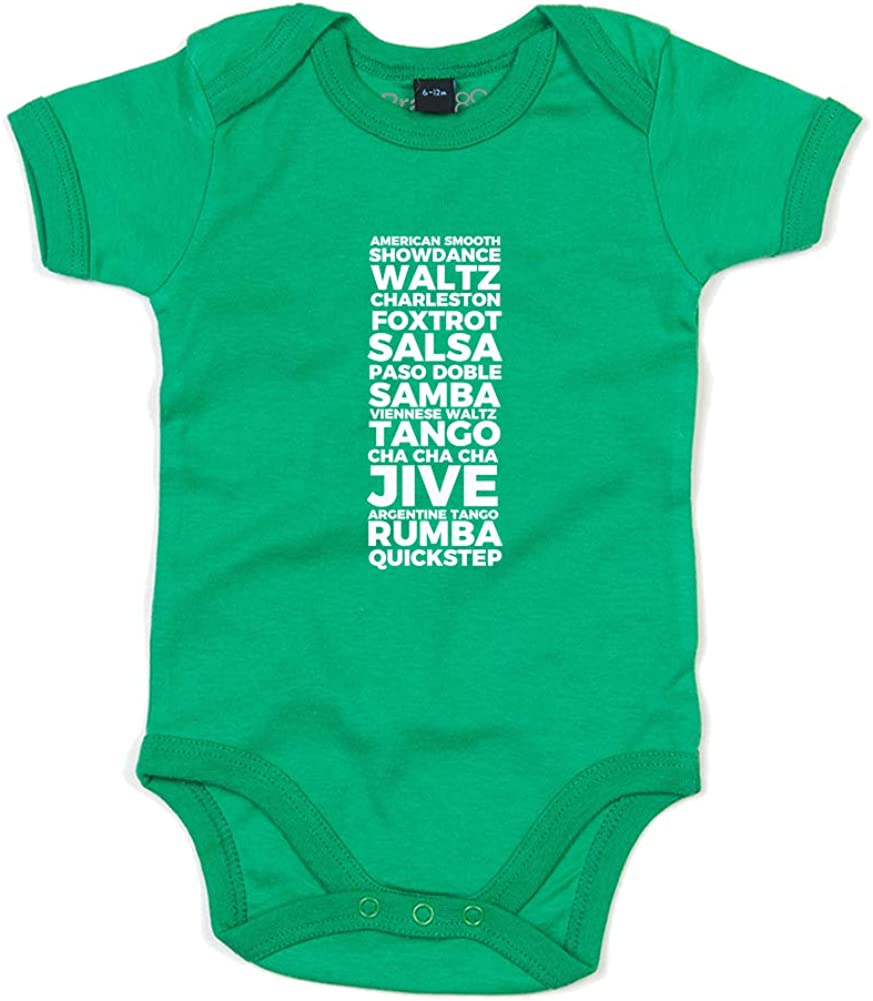 Printed Baby Grow Love Every Dance Kelly Green//White 12-18 Months