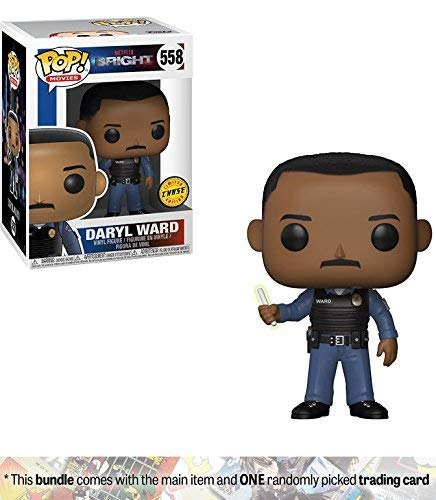 - Funko Daryl Ward (Chase Edition) POP! Movies x Bright Vinyl Figure + 1 Classic Sci-fi & Horror Movies Trading Card Bundle [#558]