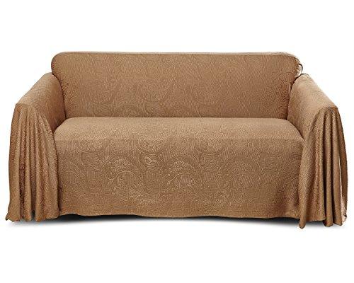 Stylemaster Alexandria Matelasse Large Sofa Furniture Throw, Mocha (Throws Sofa Large)