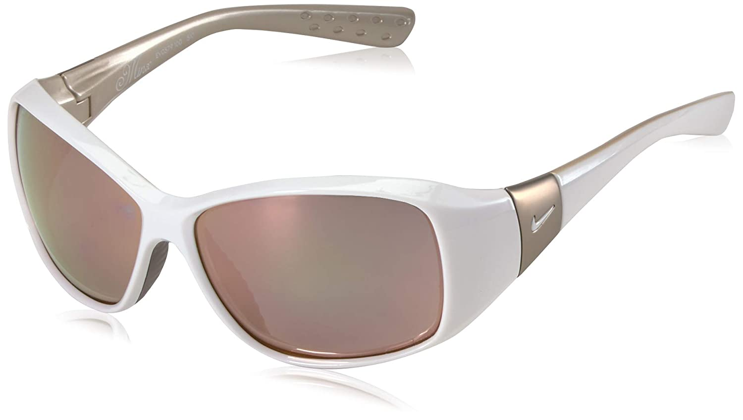 Nike Eyewear Women's Minx Rectangular Sunglasses, White, 59 mm