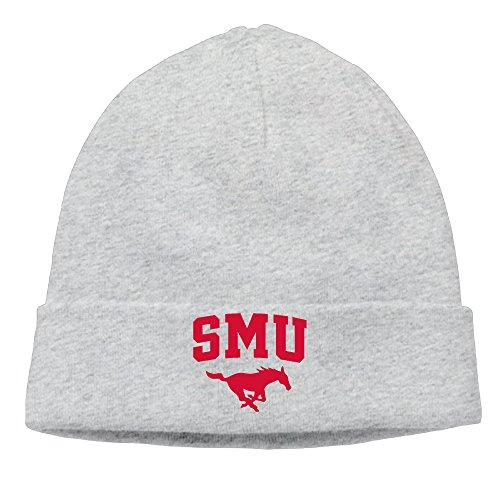 Caromn Southern SMU Mascot Methodist University Beanies Skull Ski Cap Hat Ash