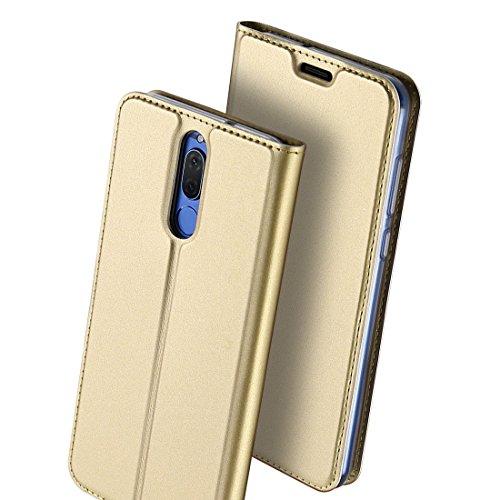 Huawei Pro Huawei 9 Bookstyle in Magnetica Mate9 Mate9 Case Gold Pelle per con Protettiva Cover Pro JEPER Flip Cover chiusa Mate Portafoglio Custodia Pro Pu Stand pelle 5qP4Rqrn