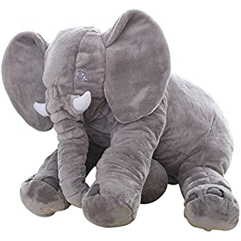 Big Soft Baby Elephant Plush Toy – Stuffed Elephant Cushion Doll Toy for Kids – Perfect Gift for Baby Shower, Birthdays, Children, Grand Sons/Daughters - ...