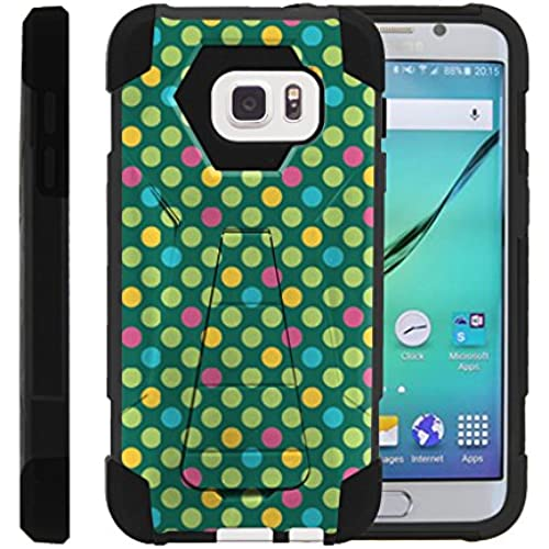 Galaxy S7 Case, Full Body Fusion SHOCK Impact Kickstand Case with Exclusive Illustrations Samsung S7 by Miniturtle - Colorful Dotted Pattern Sales