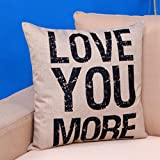 Tenworld YOU ARE MY SUNSHINE Pillow Case Decoration Cushion Cover 45x45CM (B)