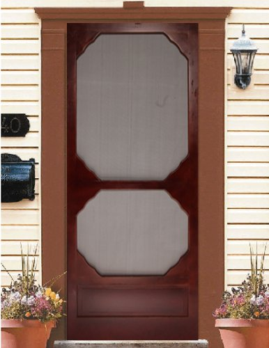 Wood Screen Door Cappuccino 36x80.75u0026quot;