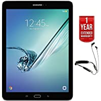 Samsung 32GB Galaxy Tab S2 Octa-Core Tablet with Super AMOLED 9.7 (2048x1536) Display (SM-T813NZKEXAR) with R6 Neckband Earbuds with Bluetooth + 1 Year Extended Warranty