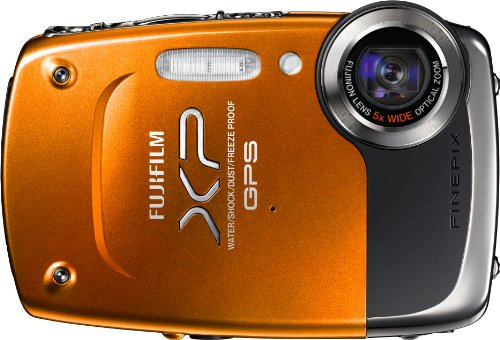 Fujifilm FinePix XP30 14 MP Waterproof Digital Camera with Fujinon 5x Optical Zoom Lens and GPS Geo-Tagging Function (Orange)