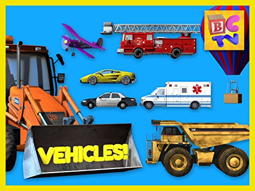 Learning Vehicles Names and Sounds for Kids - Cars, Trucks, and More! (Hot Air Balloon Video)
