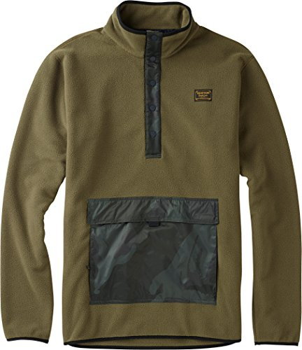 Burton Men's Hearth Fleece Anorak, Keef, ()
