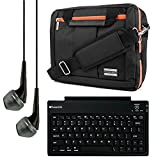 El Prado Collection 3 in 1 Backpack and Messenger Bag for NeuTab N10 Plus / K1 / N10 / N9 Pro / N9 9 to 10.1-inch Tablets + Bluetooth Keyboard + Headphones (Orange)
