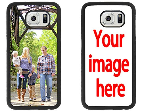 Custom Phone Cases Samsung Galaxy S6, iZERCASE [Personalized Custom Picture CASE] Make Your Own Phone Case (Black) (Make Your Own Case Samsung Galaxy S4)
