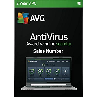 AVG Antivirus 2016 2 Years 3 PCs Sales Number [Download Edition Without CD]