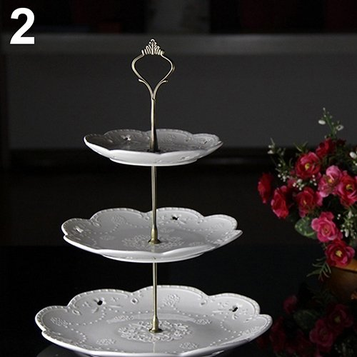 WskLinft 3 Tier Hardware Crown Cake Plate Stand Handle Fitting Wedding Party Table Decor - Bronze by WskLinft (Image #1)