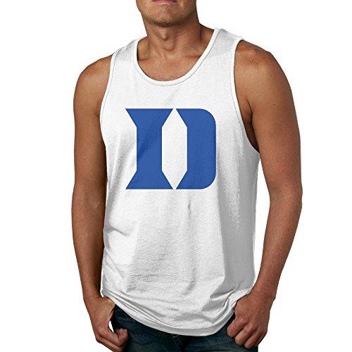 Men's Duke Blue Devils Logo Tank Top-White
