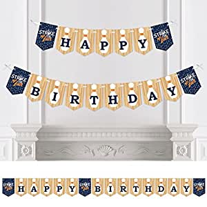 Strike Up the Fun - Bowling - Birthday Party Bunting Banner - Birthday Party Decorations - Happy Birthday