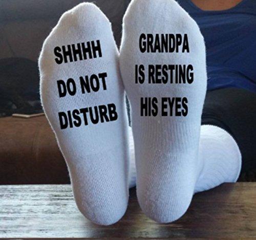 Grandpa Socks, Great gift for Grandpa, Papa, Gramps, Pa, Pop or Whatever name he may go by. by Taylored Custom Coatings