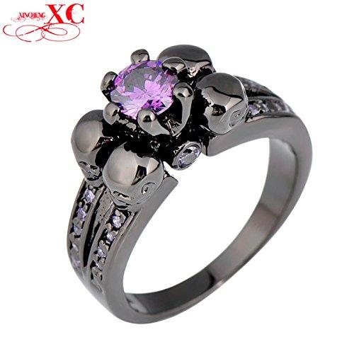 ayt-purple-sapphire-black-skull-jewelry-women-men-amethyst-ring-anel-aneis-black-gold-filled-zircon-