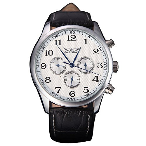 Mens Automatic Winding Black Dial - Jaragar Automatic Winding Mechanical Black Dial Men's Wrist Watch