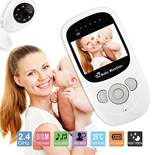 "Bestbuystore US 2.4"" Camera Night Vision Baby Monitor Wirele"