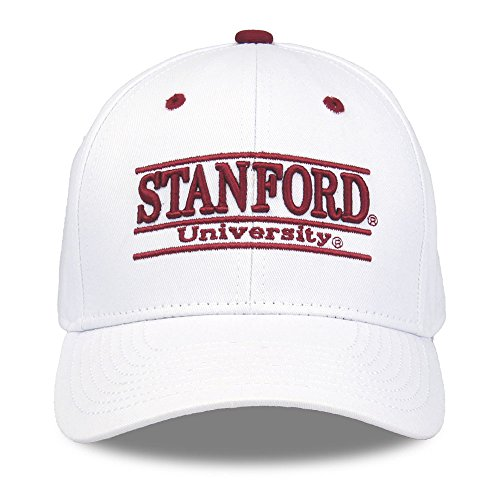 The Game NCAA Stanford Cardinal Unisex NCAA bar Design Hat, White, Adjustable