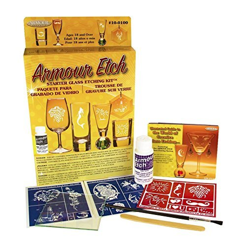 Glass Etching Kits (Armour Etch Glass Etching Starter Kit)