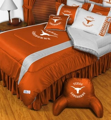 The University Of Texas Longhorns NCAA Bedding - Sidelines Complete Set - Twin w/ 1 Sham (Comforter Sidelines Texas)